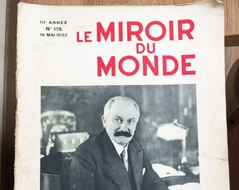 "Rare French newspaper ""Le Miroir du Monde"" May 14th 1932 Number 115"