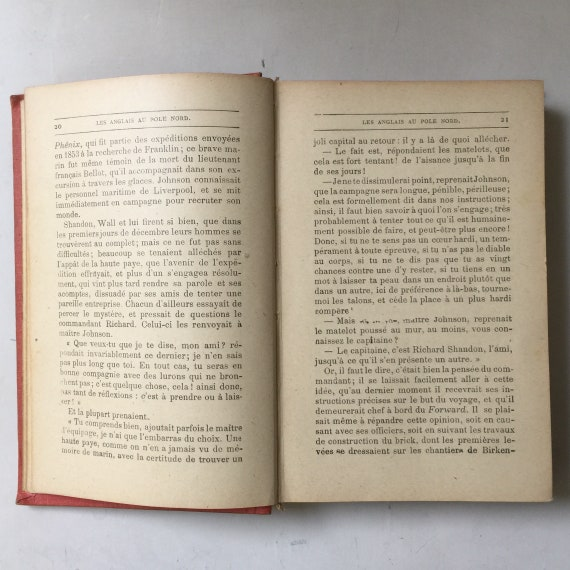 Antique book by Jules Verne in French