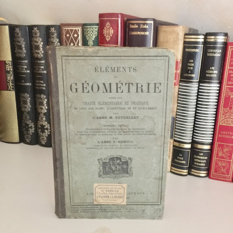 Very rare French geometry book from the XIXth century