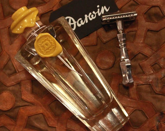 Organic Aftershave Lotion in Big Facetted Glass Bottle - DARWIN