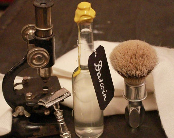 """Aftershave Lotion """"Classic"""" in Long  and Thin Glass Bottle - DARWIN"""