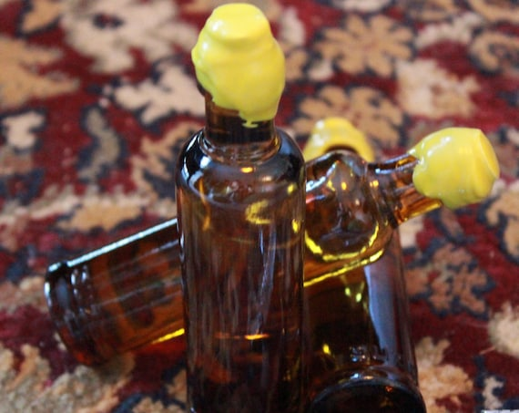 """Organic Aftershave Lotion in Vintage """"VV"""" Glass Bottle - DARWIN """"Classic"""" - Made in France"""