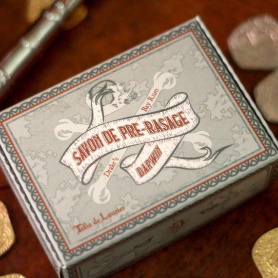 """Luxury DARWIN Pre-Shave Soap - """"Drake's Bay Rum"""""""