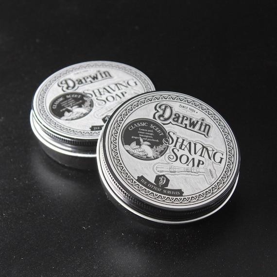 "Luxury Organic Shaving Soap in Tin - DARWIN ""Classic"""