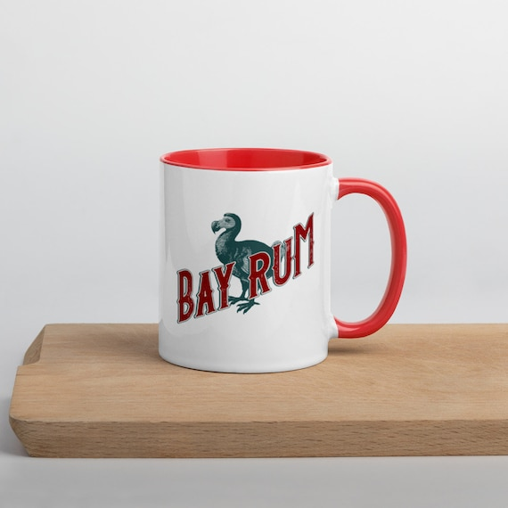 "Red and White ""Bay Rum"" Shaving Mug from Darwin"