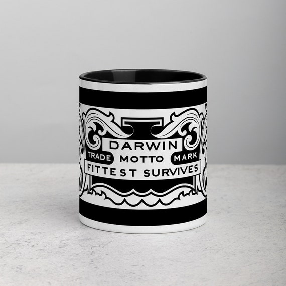 Darwin's Blade and Motto Coffee Mug - Back Design