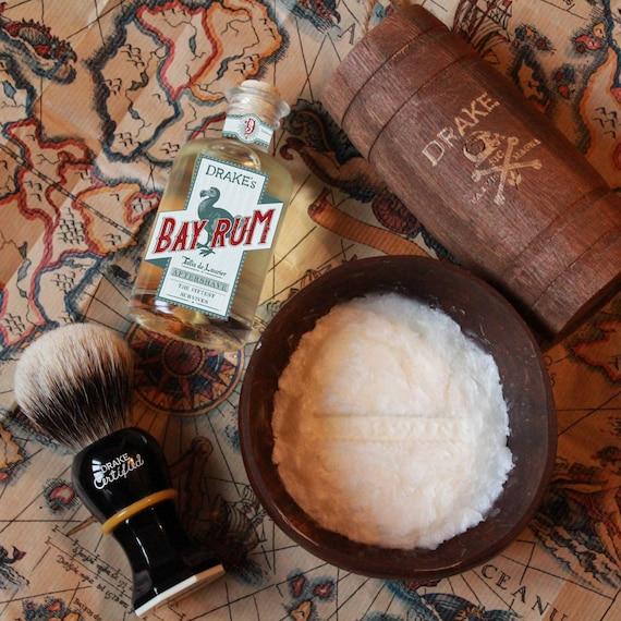 Drake's Bundle 2 - Brush + Bay Rum Shaving Soap + Aftershave - DARWIN - Made in France