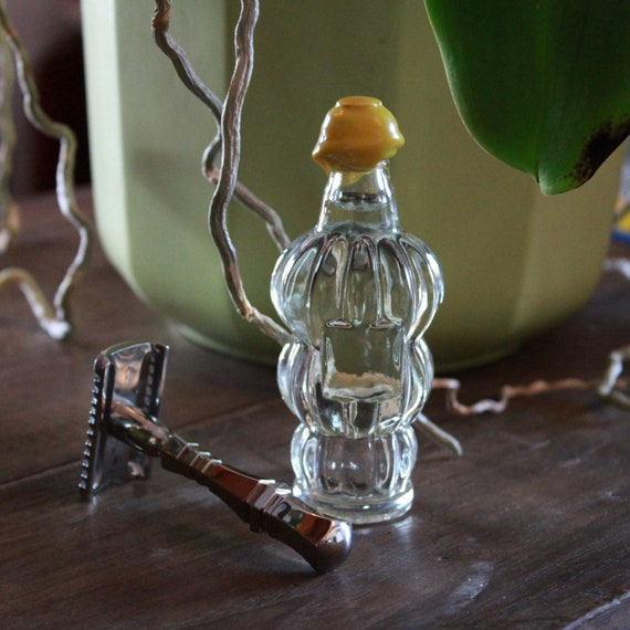 "Organic Aftershave Lotion in Vintage Banana Liquor Bottle - DARWIN ""Classic"" Made in France"