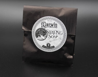 """Luxury Organic Shaving Soap Refill - DARWIN """"Classic"""""""