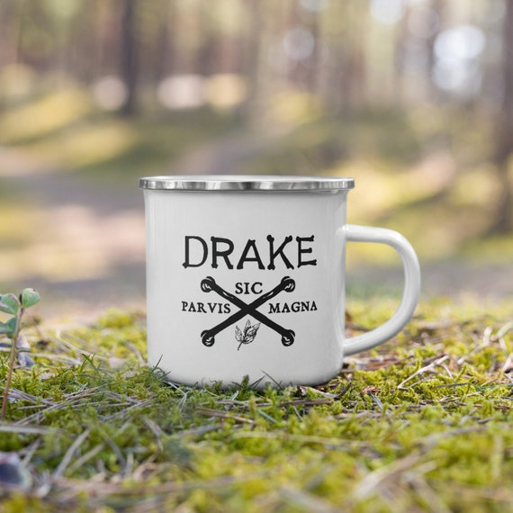 """Drake """"Motto"""" Enamel Mug by Darwin"""