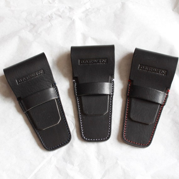Universal Genuine Leather Case for Safety Razors - DARWIN - Black