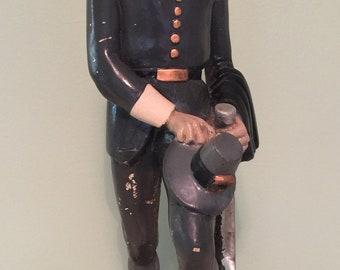 "Vintage PILGRIM RUM Advertising Store Display Chalkware Figurine RARE, Large 17"""