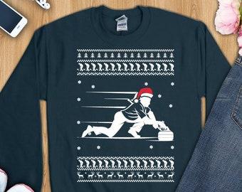 a94a1b2e6 Curling sport shirt, curling shirt, curling christmas shirt, curling  christmas gift, curling sweatshirt, curling sweater, curling ugly shirt