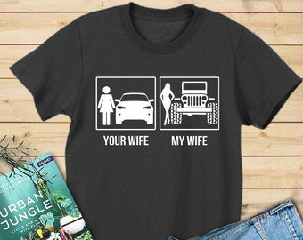 My Wife Jeep Shirt For Women Ladie Gift Lover