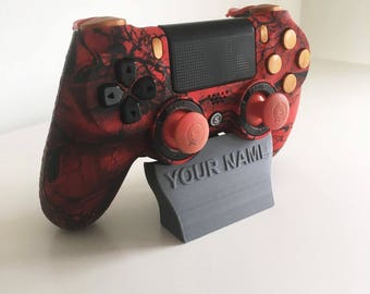 Personalised - Custom Playstation 4 Controller Holder - Custom Name or Logo - Multiple Colours Available