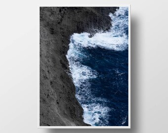 ocean print ocean decor ocean wall art coastal print ocean photography beach print wave art wave print beach decor coastal decor beach art