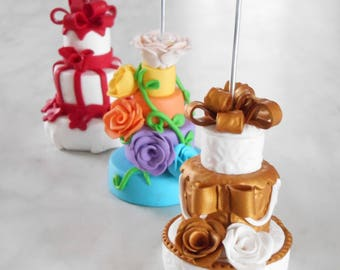 Mini Wedding cake in Favor, handmade fimo: placeholder