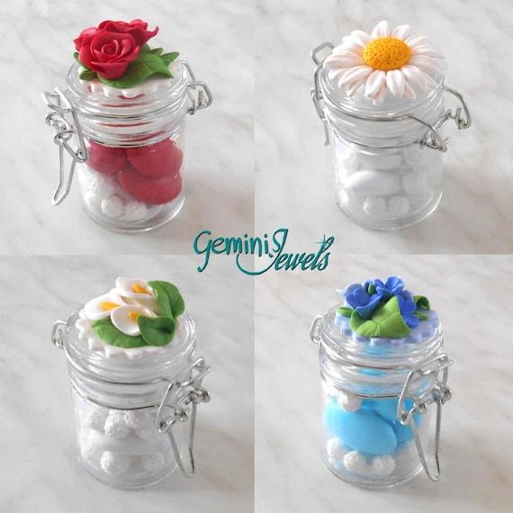 Hochzeit Bevorzugung Jar Gewürzregal mit Kappe in Fimo | Etsy