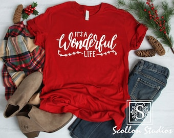 64fce086242e It's a wonderful life , Christmas T-Shirt, Christmas Tee
