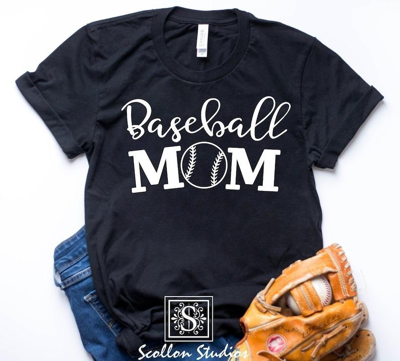 cd6a794a4 Baseball Mom Shirt Baseball T-Shirt Baseball shirt custom | Etsy