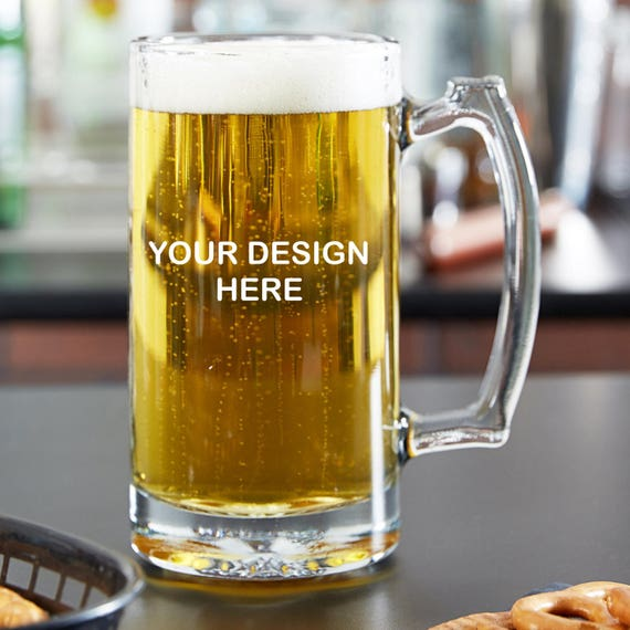 Custom Engraved/Etched Beer Glass /16 oz Beer Mug /16oz Pint Glass /you  choose your text and font