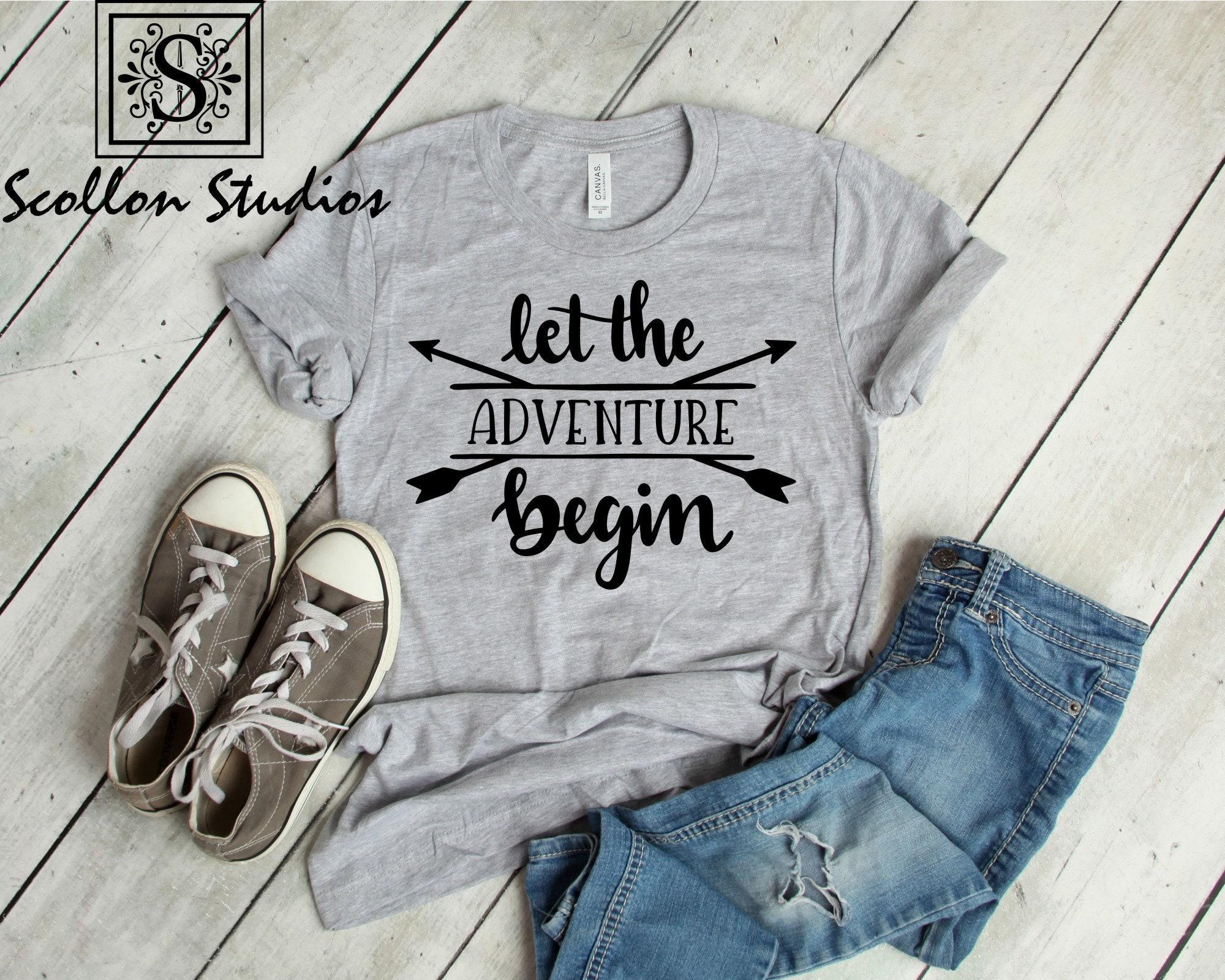 c97efd3a4ffa Let The Adventure Begin | Unisex Jersey Short Sleeve T- Shirt |Let The  Adventure Begin Tee | Adventure T-Shirt | Unisex Sized T-shirt
