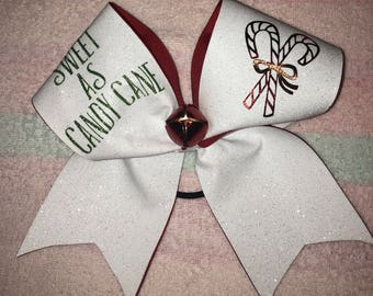 Sweet as Candy Cane - Christmas Cheer Bow