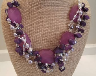 Purple Tangle Necklace