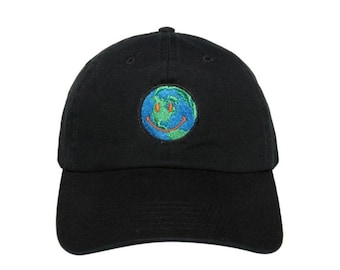 Travis Scott Astroworld Smiling Spinning Earth Dad Hat f9fed9c5aa2
