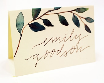 Watercolor Place Card Packages