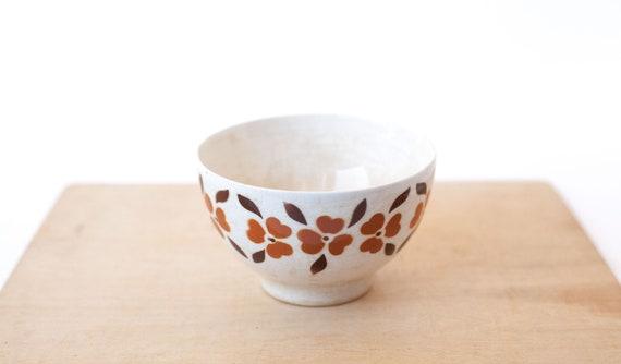 70/'s pattern stencil airbrush Tulip Bowl coffee bowl collection kitchen Vintage Portuguese ceramic bowl SACAV\u00c9M Bowl Breakfast Bowl