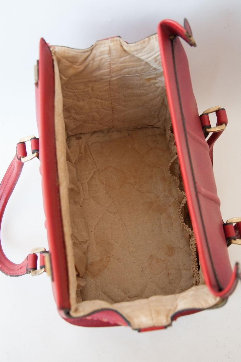 small red bag with strap cabin bag,vanity red case vintage skai weekend bag carry inge carry-on bag Travel bag