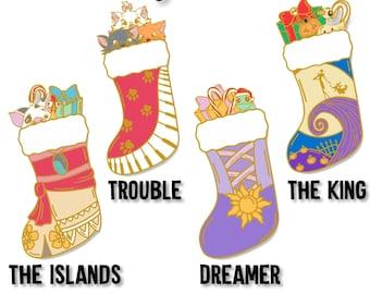 145888abe63f0 Holiday Pins - Chrismtas Pins - Nightmare Before Christmas - Aristocats -  Moana - Tangled - Fantasy Pin - Trading Pins