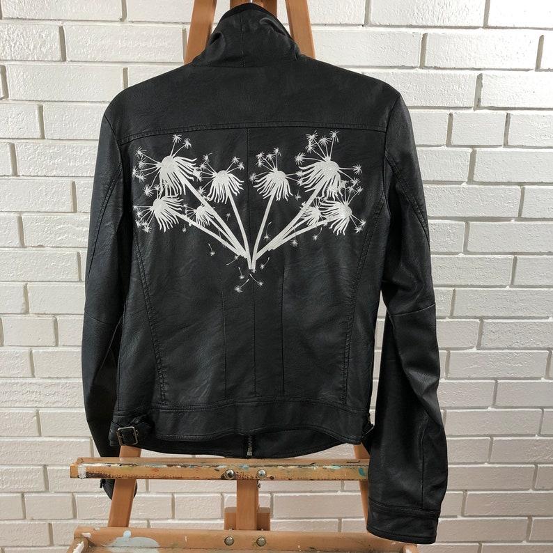Pleather Black Dandelion Jacket image 0