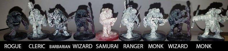 Turtle Humanoid Miniatures