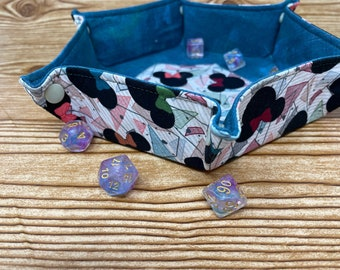 Collapsible Dice Tray // Disney // Hexagon Dice Tray // Game Component Trays // Fabric Trays