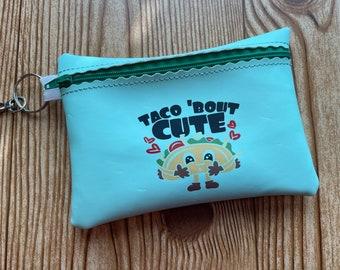 Taco clutch // Zipper Wallet // Coin Purse // clutch