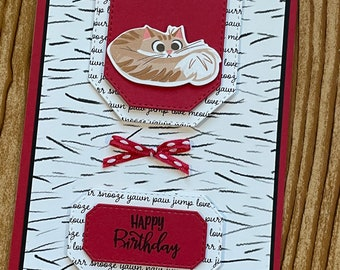 Beautiful hand-made greeting cards // with envelope // 5.5 x 4.25 // Happy Birthday // Pets