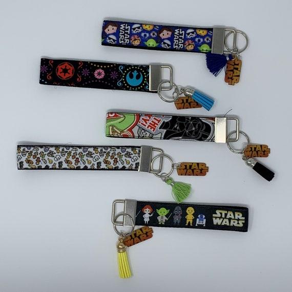 """Star Wars I Love You I Know Key Fob Wristlet KeyChain 1/"""" Ribbon"""