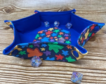 Collapsible Dice Tray // Meeples // Hexagon Dice Tray // Game Component Trays // Fabric Trays