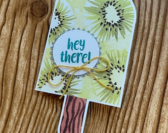 Beautiful hand-made greeting cards // with envelope // 5.5 x 4.25 // Hello