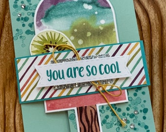 Beautiful hand-made greeting cards // with envelope // 5.5 x 4.25 // Ice Cream