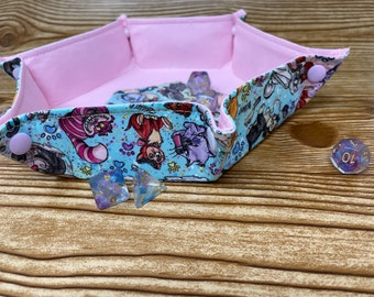 Collapsible Dice Tray // Disney // Cats // Hexagon Dice Tray // Game Component Trays // Fabric Trays