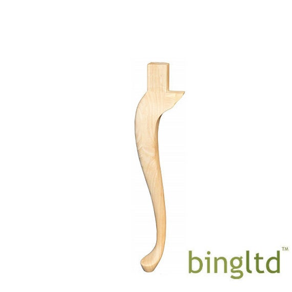 Bingltd 29 Unfinished Hardwood Queen Anne Table Leg Set Of 2 Tl 660 Rw Unf