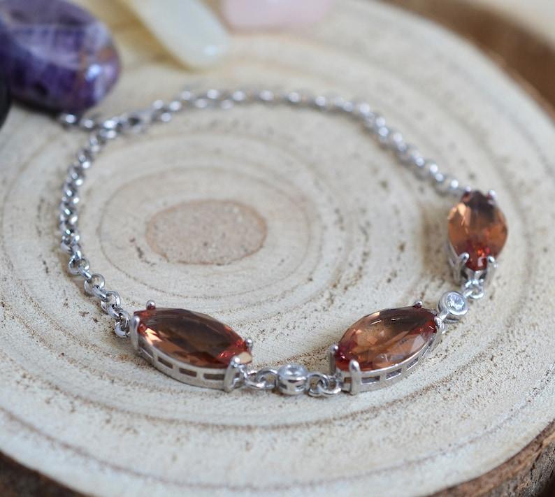 Turkish handmade bracelet solid 925 sterling Silver alexandrite Bracelet gift for her free shipping color change
