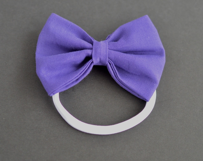 Handmade Dog Bow Tie for Wedding - Purple