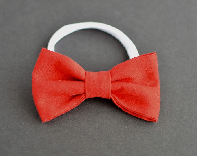 Handmade Wedding Dog Bow Tie - Classic Red