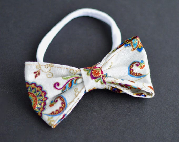 Handmade Dog Bow Tie - Floral Print