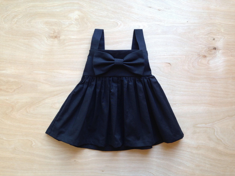 b3c195576b5a3 Little Black Dress Baby Black Dress Black dress for toddler   Etsy