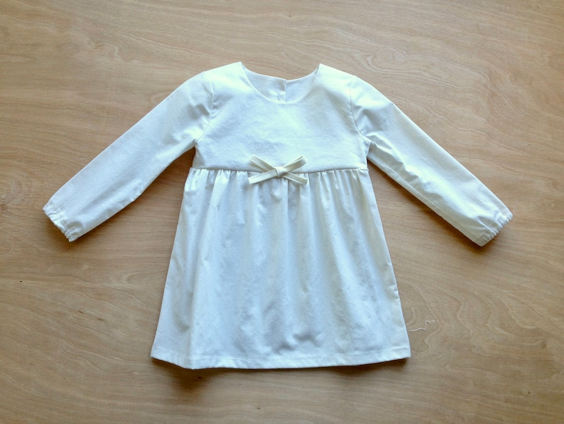 d9569bc46ffa Long Sleeve White Dress Baby Dress Toddler Dress Girls